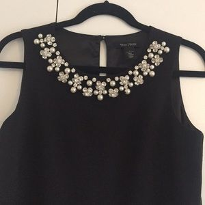 White House Black Market Jeweled Sheath Dress